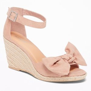 Old Navy Sueded Bow-Tie Espadrille Wedge
